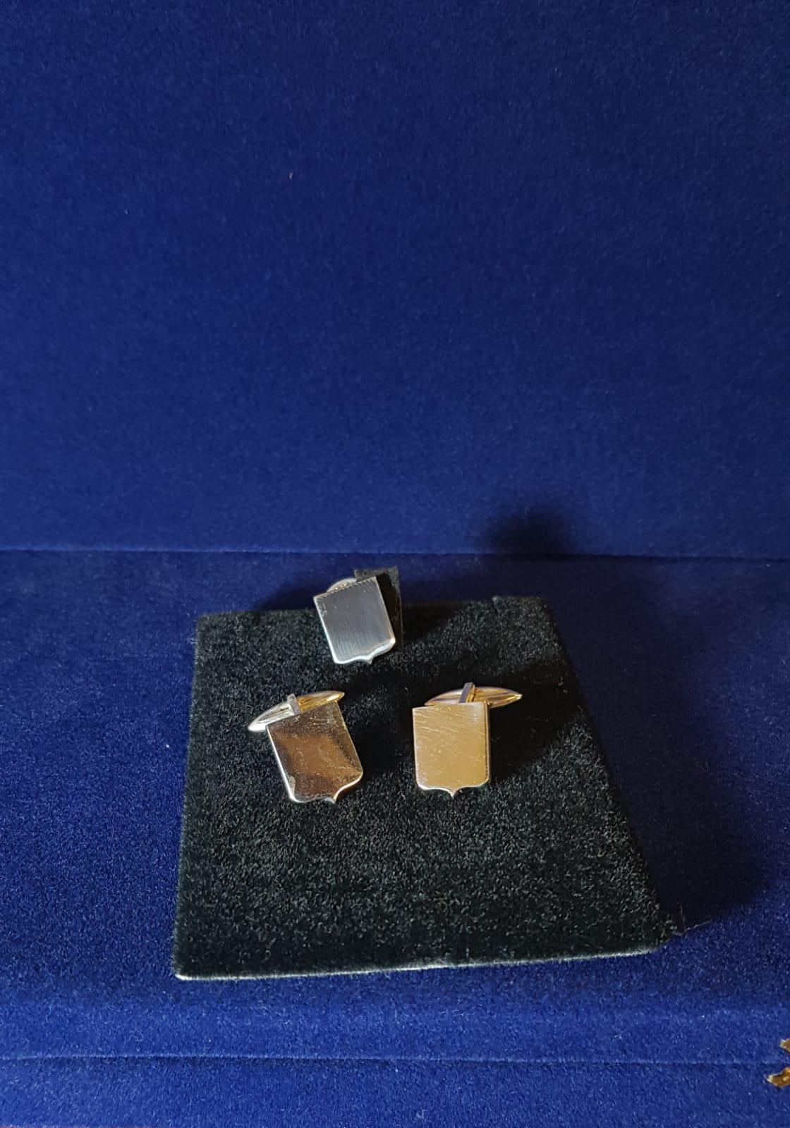 gemelli personalizzatoi con incisione stemma di gioielli argento Otello Santucci
