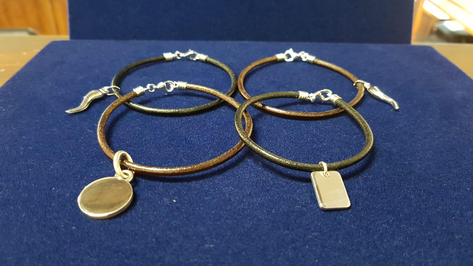 bracciale personalizzato con incisione di gioielli argento Otello Santucci