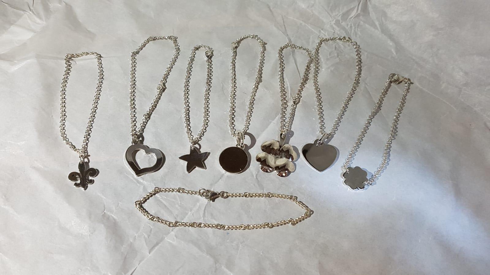 Bracciali in argento con vari soggetti Otello Santucci Creazioni di gioielli