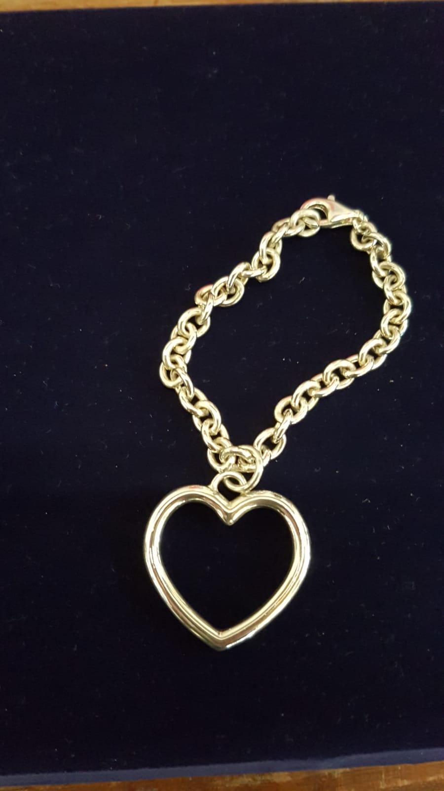 Bracciale a filo con medaglia di gioielli Otello Santucci